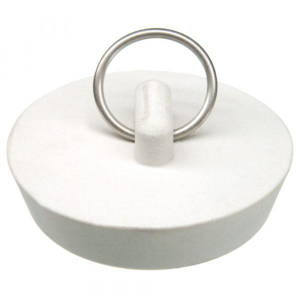 1-3/4 in. Rubber Drain Stopper in White (1 per Card)