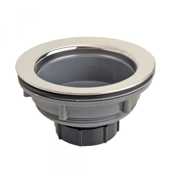 3-1/2 in. Sink Drain Assembly with Plastic Basket Strainer in Chrome