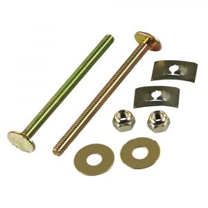 1/4 in. x 3-1/2 in. Brass Closet Bolts with Nuts and Washers (2-Pack)