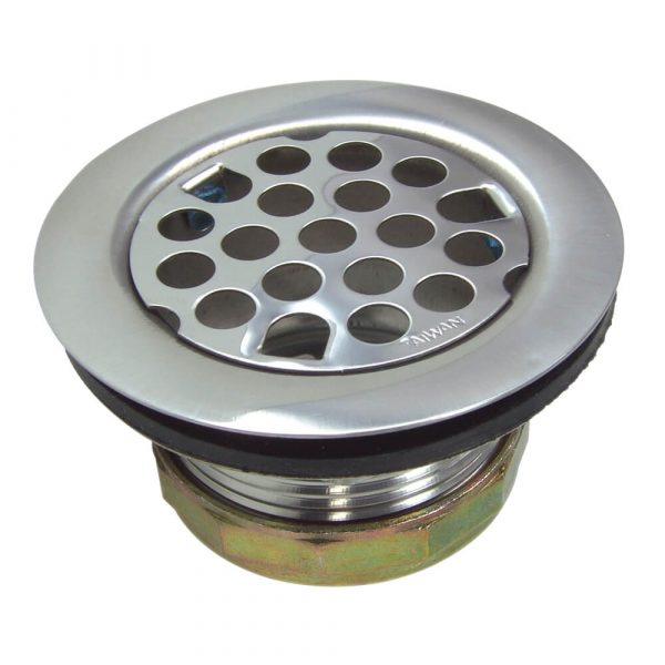 Flat Kitchen Sink Strainer Assembly in Chrome
