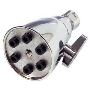 Universal Adjustable 6- Jet Showerhead in Chrome