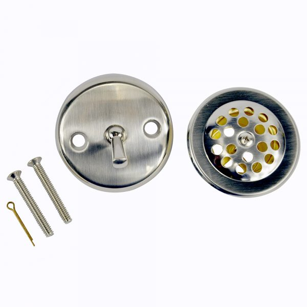 Trip Lever Tub Drain Trim Kit with Overflow in Brushed Nickel