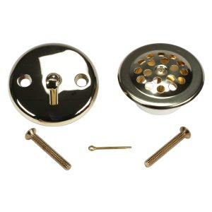 Trip Lever Tub Drain Trim Kit with Overflow in Polished Brass