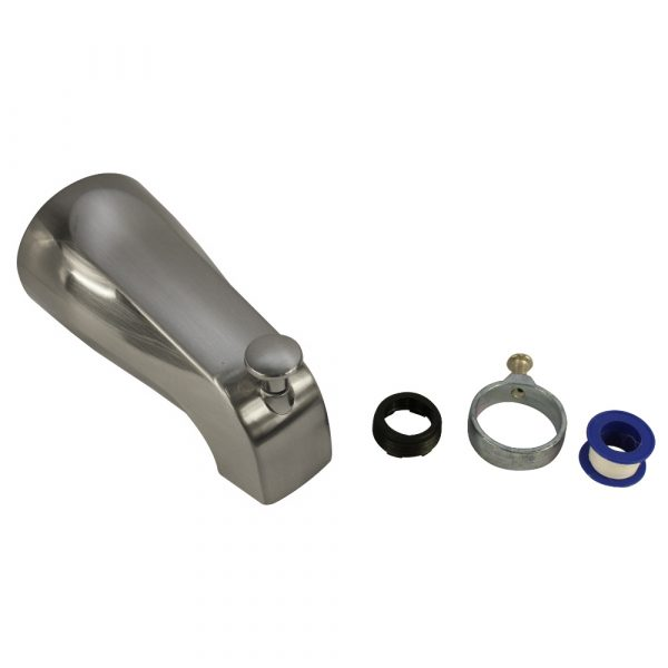 Tub Spout with Diverter in Brushed Nickel
