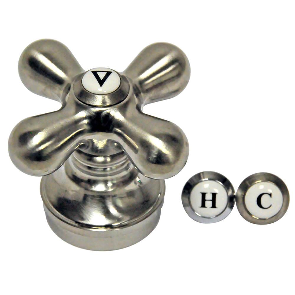 Universal Faucet Cross Handle In Brushed Nickel Danco