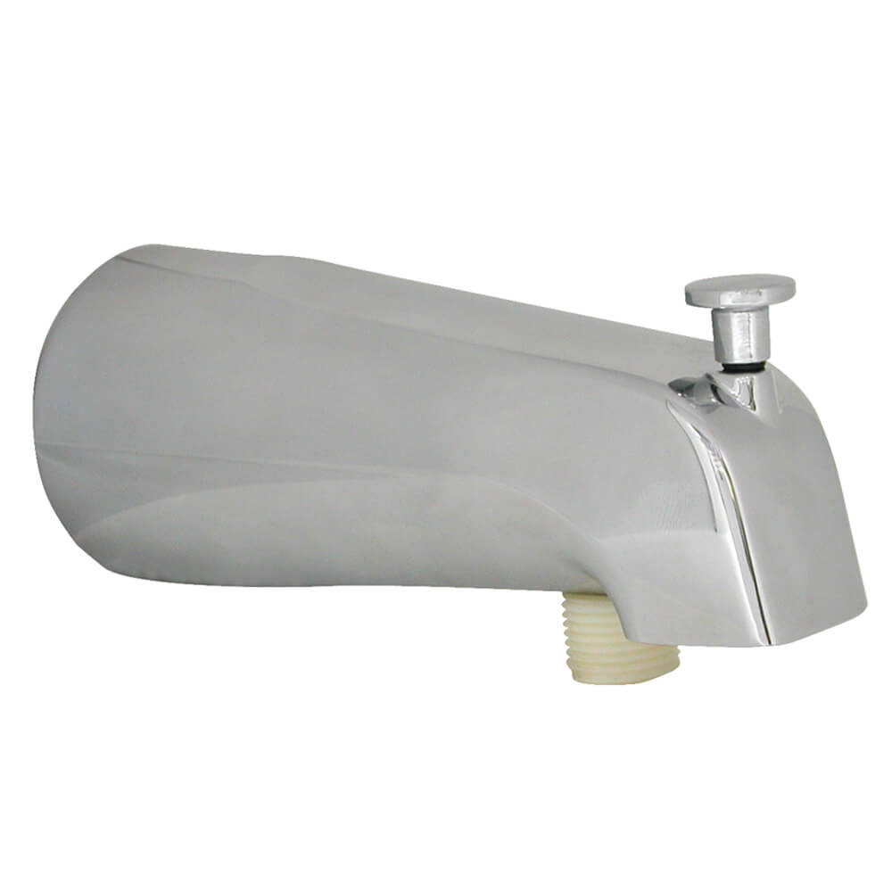 Bathroom Tub Parts: Universal Tub Spout With Handheld Shower Fitting In Chrome
