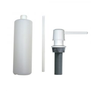 Universal Soap Dispenser with Straight Nozzle in Ice White