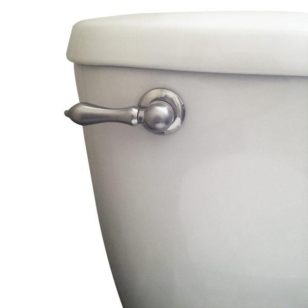 Universal Decorative Toilet Handle in Brushed Nickel