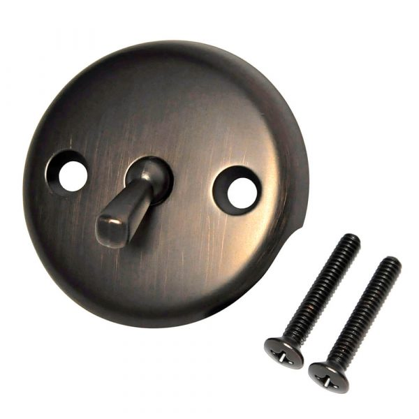 Overflow Plate with Trip Lever in Oil Rubbed Bronze