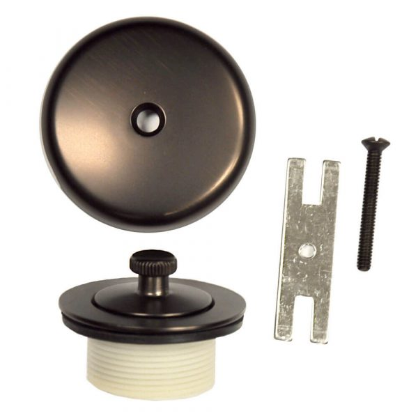 Universal Lift and Turn Tub Drain Trim Kit with Overflow in Oil Rubbed Bronze