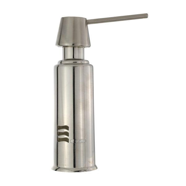 Air Gap Soap Dispenser with Straight Nozzle in Brushed Nickel