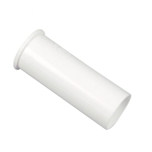1-1/2 in. O.D.  X 4 in. Flanged Tailpiece in White