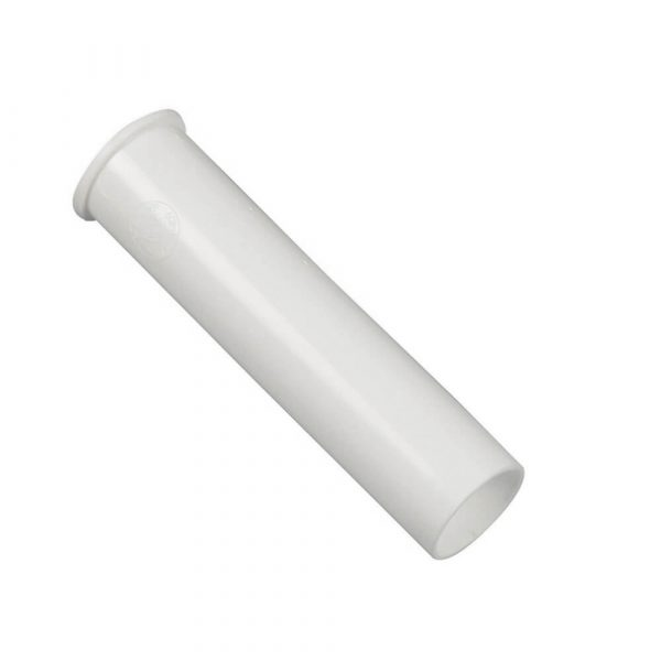 1-1/2 in. O.D.  X 6 in. Flanged Tailpiece in White
