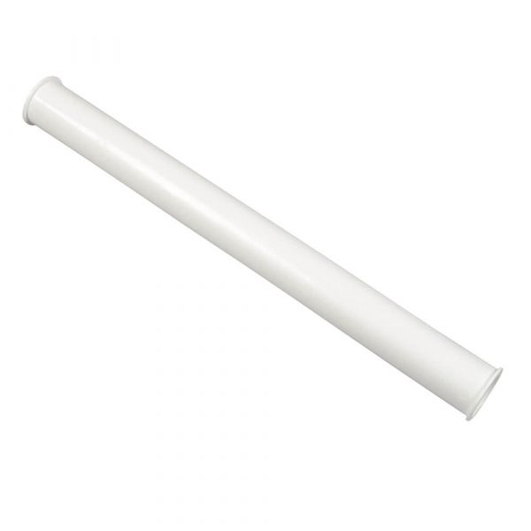 1-1/2 in. O.D.  X 16 in. Double End Flanged Tailpiece in White