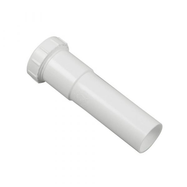 1-1/4 in. X 6 in. Slip-Joint Extention Tube in White