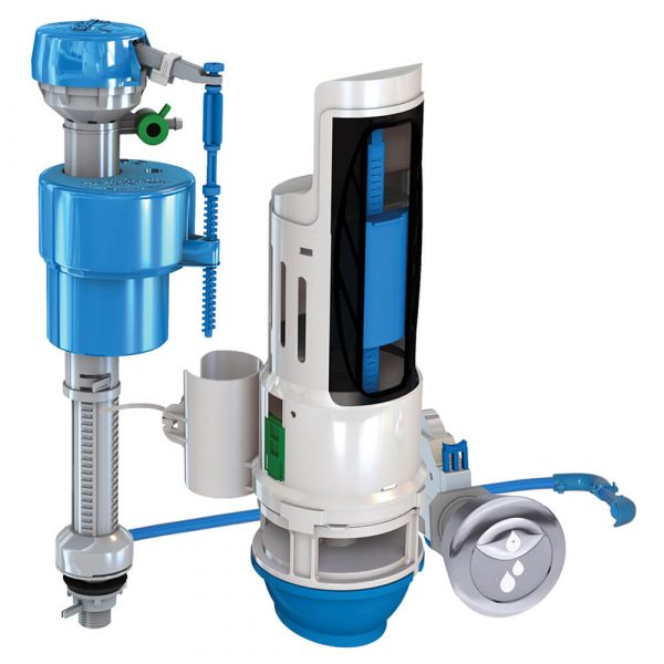 HYR460 Water-Saving Toilet Total Repair Kit with Dual Flush Valve