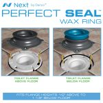 Perfect Seal Toilet Wax Ring with Bolts