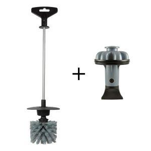 Brush. It Garbage Disposal Cleaning Brush & Disposal Genie II - Gray Combo