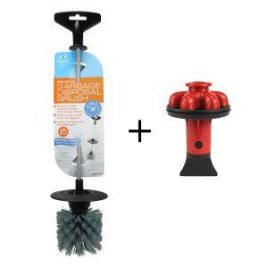 Brush. It Garbage Disposal Cleaning Brush & Disposal Genie II - Red Combo