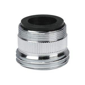 """15/16""""- 27M or 55/64""""- 27F X 3/4"""" GHTM Chrome Garden Hose Adapter (2-Pack)"""
