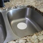 5 in. Flat Suction Sink Stopper in White (2-Pack)