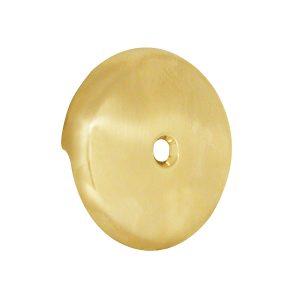Single Hole Bathtub Drain Overflow Plate in Polished Brass