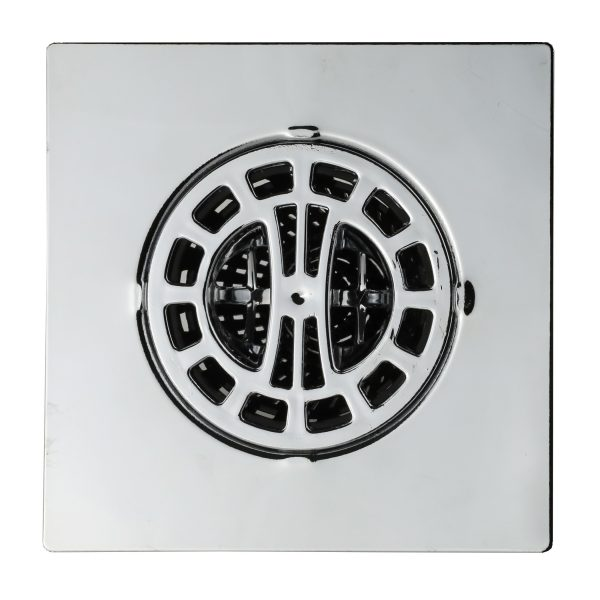 Square Hair Catcher for Shower Drain in Chrome